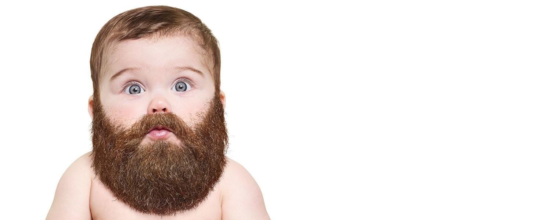 baby met baard