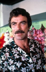 Tom Selleck met snor